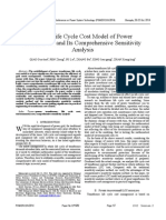 A New Life Cycle Cost Model of Power