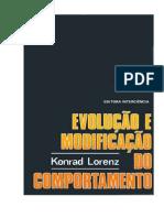 Konrad Lorenz - Evoluo e Modif