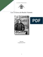 Las 12 Llaves de Basilio Valentc3adn