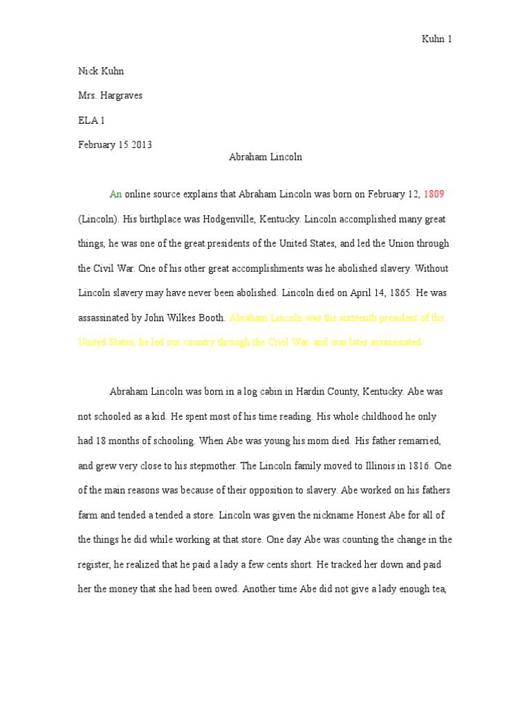 How To Write A Good English Essay  Essay On Science And Society also Examples Of Proposal Essays Abe Lincoln Research Paper  Abraham Lincoln  American  Business Strategy Essay