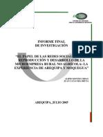El papel de las redes sociales en la reproducción y desarrollo de la microempresa rural no agrícola