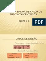 Intercambiador de Calor de Tubos Concentricos