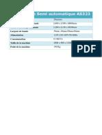 Scotcheuse Semi Automatique AS323