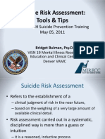 Bulman (2011) Suicide Risk Asessment Tools and Tips