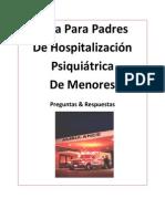 Guía Para Padres De Hospitalización Psiquiátrica De Menores