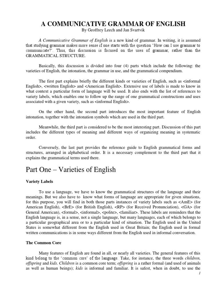 A communicative grammar of english as of september 11 2015 a communicative grammar of english as of september 11 2015 stress linguistics english language biocorpaavc