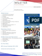 BIFS Newsletter, 2015-10-09 (English)