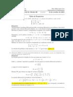 Corrección Segundo Parcial de Cálculo III (Ecuaciones Diferenciales) 12 de octubre de 2015 mañana