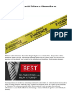Direct vs. Circumstantial Evidence