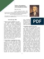 II Qualidades Primárias e Secundárias - John Locke