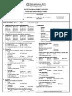 Food Record Ssurvey Form