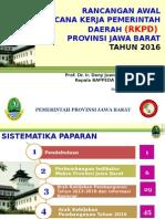 Rancangan Awal RKPD Provinsi Jawa Barat Tahun 2016