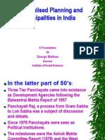 Decentralised Planning_Municipalities & Panchayats