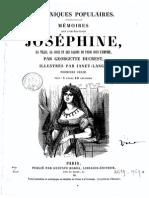 Chroniques Populaires - Mémoires sur L´Impératrice, la Vie, la Cour et les Salons de Paris sous l´Empire - 1eme Série par Georgette Ducrest 1820