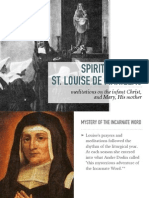 St. Louise de Marillac on Infant Christ and Mary