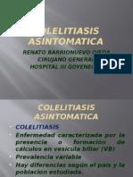 COLELITIASIS ASINTOMATICA