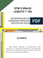Determinación de la gravedad específica de los suelos