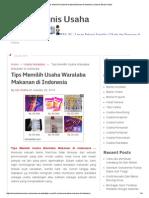 Tips Memilih Usaha Waralaba Makanan di Indonesia _ Sukses Bisnis Usaha.pdf