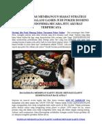 Strategi Jitu Pasti Menang Dalam Turnamen Poker Online