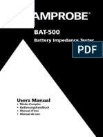 BAT 500 Battery Impedance Tester Manual