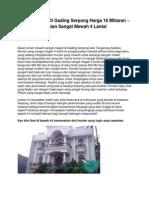 Dijual Rumah Di Gading Serpong Harga 16 Miliaran – Hunian Sangat Mewah 4 Lantai - www.graficanueva.com