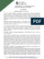 Ementas Das Disciplinas (2015)