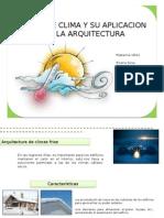 clima y arquitectura