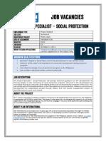 Job Advertisement - Social Protection