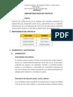 Informe de Ejecucion de Proyecto Productivo Siaf 07-10-2015