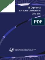 2015-16 IB DP & Course Descriptions