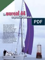Essai Boréal 44 - Article  Yachting Sud - mai 2009