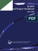 2015-16 MYP Personal Project Handbook