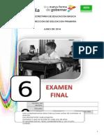 6° GRADO EXAMEN FINAL