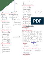Formulario - Derivadas e Integrales