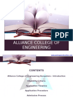 Alliance College of Engineering Bangalore Alliance University|AUUET