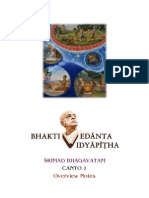 Bhaktivedanta Vidyapitha SB Canto 1 Overview