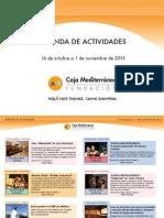 Agenda Actividades Destacadas. Del 16 de octubre al 1 de noviembre de 2015