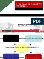 PRESENTACION POLÍTICA, LEGISLACION Y GESTION AMBIENTAL