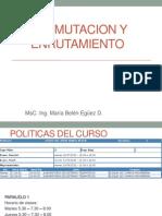 Politicas Conmutacion y Enrutamiento I