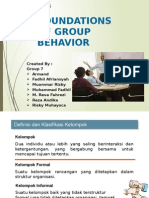 Dasar - Dasar Prilaku Kelompok Chapter 8