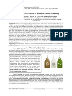 Buy Green to Save Green- A Study on Green Marketing