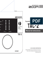 Zoom TAC-2 Manual de Instrucciones (Spanish)