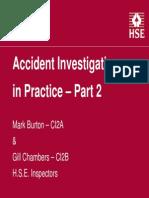 Accident Investigations in Practice - Part 2