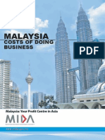 MIDA Malaysia Cost of Doing Business