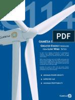 Gamesa g114 2.0 Mw