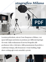 Studio Fotografico Milano