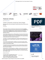 GEN _ Magazine Articles_ Green Chemistry Initiatives Take Shape