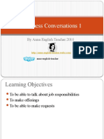 Learning English - Business Conversations 3