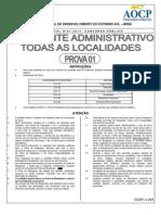Aocp 2012 Brde Assistente Administrativo Prova