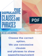 106 Concessive Clauses and Phrases